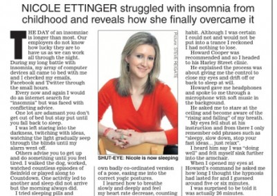 Daily Express – Hypnosis for Insomnia