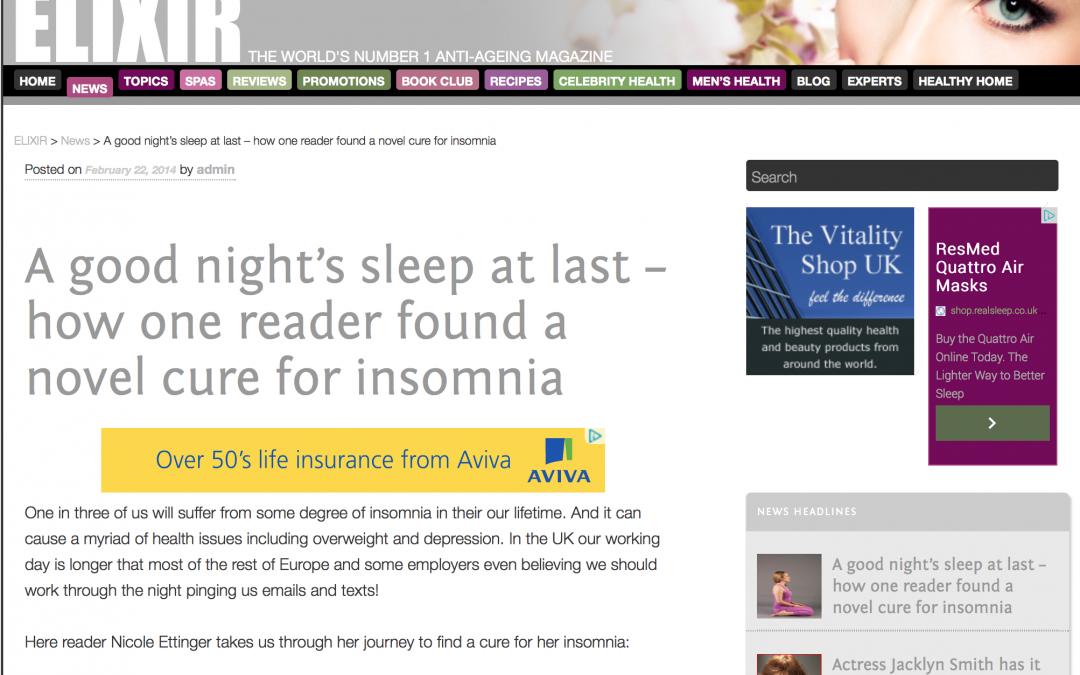 Elixir – A Novel Approach To Insomnia