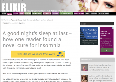 Elixir – A Novel Approach To Insomnia