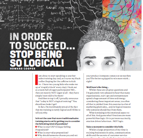 CEO-Magazine – In Order To Succeed… Stop Being So Logical!